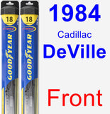 Front Wiper Blade Pack for 1984 Cadillac DeVille - Hybrid