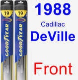 Front Wiper Blade Pack for 1988 Cadillac DeVille - Hybrid