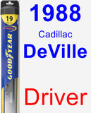 Driver Wiper Blade for 1988 Cadillac DeVille - Hybrid