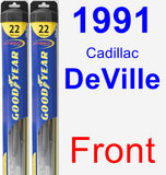 Front Wiper Blade Pack for 1991 Cadillac DeVille - Hybrid