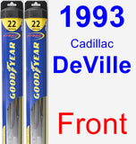Front Wiper Blade Pack for 1993 Cadillac DeVille - Hybrid