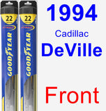 Front Wiper Blade Pack for 1994 Cadillac DeVille - Hybrid