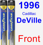 Front Wiper Blade Pack for 1996 Cadillac DeVille - Hybrid