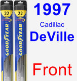 Front Wiper Blade Pack for 1997 Cadillac DeVille - Hybrid