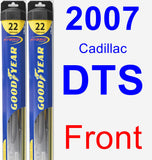 Front Wiper Blade Pack for 2007 Cadillac DTS - Hybrid