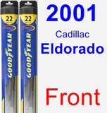 Front Wiper Blade Pack for 2001 Cadillac Eldorado - Hybrid