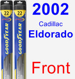 Front Wiper Blade Pack for 2002 Cadillac Eldorado - Hybrid