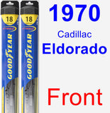 Front Wiper Blade Pack for 1970 Cadillac Eldorado - Hybrid