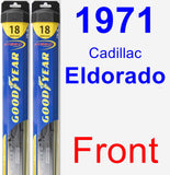 Front Wiper Blade Pack for 1971 Cadillac Eldorado - Hybrid