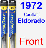 Front Wiper Blade Pack for 1972 Cadillac Eldorado - Hybrid