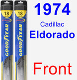 Front Wiper Blade Pack for 1974 Cadillac Eldorado - Hybrid