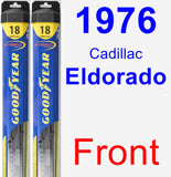 Front Wiper Blade Pack for 1976 Cadillac Eldorado - Hybrid