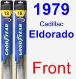 Front Wiper Blade Pack for 1979 Cadillac Eldorado - Hybrid