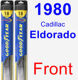 Front Wiper Blade Pack for 1980 Cadillac Eldorado - Hybrid