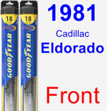 Front Wiper Blade Pack for 1981 Cadillac Eldorado - Hybrid