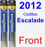 Front Wiper Blade Pack for 2012 Cadillac Escalade - Hybrid