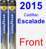 Front Wiper Blade Pack for 2015 Cadillac Escalade - Hybrid