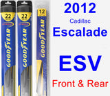 Front & Rear Wiper Blade Pack for 2012 Cadillac Escalade ESV - Hybrid