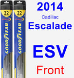Front Wiper Blade Pack for 2014 Cadillac Escalade ESV - Hybrid