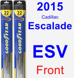 Front Wiper Blade Pack for 2015 Cadillac Escalade ESV - Hybrid