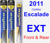 Front & Rear Wiper Blade Pack for 2011 Cadillac Escalade EXT - Hybrid