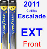 Front Wiper Blade Pack for 2011 Cadillac Escalade EXT - Hybrid