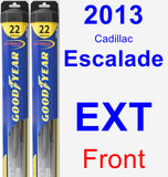 Front Wiper Blade Pack for 2013 Cadillac Escalade EXT - Hybrid