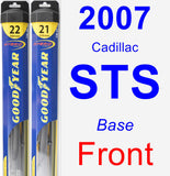 Front Wiper Blade Pack for 2007 Cadillac STS - Hybrid