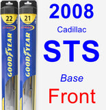 Front Wiper Blade Pack for 2008 Cadillac STS - Hybrid