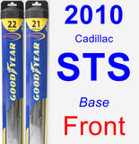 Front Wiper Blade Pack for 2010 Cadillac STS - Hybrid