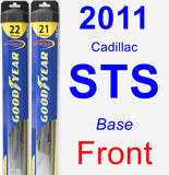 Front Wiper Blade Pack for 2011 Cadillac STS - Hybrid