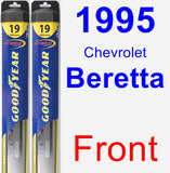 Front Wiper Blade Pack for 1995 Chevrolet Beretta - Hybrid