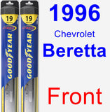 Front Wiper Blade Pack for 1996 Chevrolet Beretta - Hybrid