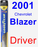 Driver Wiper Blade for 2001 Chevrolet Blazer - Hybrid