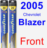 Front Wiper Blade Pack for 2005 Chevrolet Blazer - Hybrid