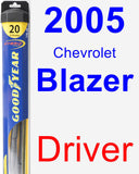 Driver Wiper Blade for 2005 Chevrolet Blazer - Hybrid