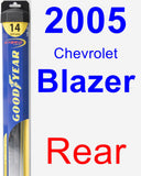 Rear Wiper Blade for 2005 Chevrolet Blazer - Hybrid
