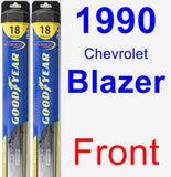 Front Wiper Blade Pack for 1990 Chevrolet Blazer - Hybrid