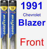 Front Wiper Blade Pack for 1991 Chevrolet Blazer - Hybrid