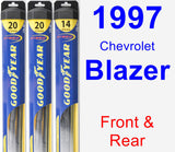 Front & Rear Wiper Blade Pack for 1997 Chevrolet Blazer - Hybrid