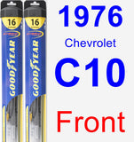 Front Wiper Blade Pack for 1976 Chevrolet C10 - Hybrid