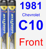 Front Wiper Blade Pack for 1981 Chevrolet C10 - Hybrid