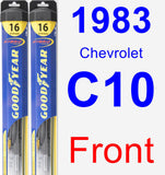 Front Wiper Blade Pack for 1983 Chevrolet C10 - Hybrid