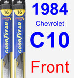 Front Wiper Blade Pack for 1984 Chevrolet C10 - Hybrid