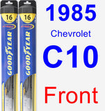 Front Wiper Blade Pack for 1985 Chevrolet C10 - Hybrid