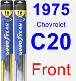 Front Wiper Blade Pack for 1975 Chevrolet C20 - Hybrid