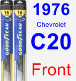 Front Wiper Blade Pack for 1976 Chevrolet C20 - Hybrid