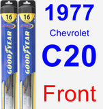 Front Wiper Blade Pack for 1977 Chevrolet C20 - Hybrid