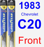 Front Wiper Blade Pack for 1983 Chevrolet C20 - Hybrid