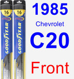 Front Wiper Blade Pack for 1985 Chevrolet C20 - Hybrid